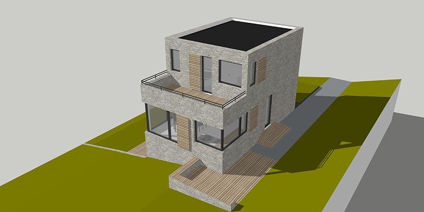 Neubau Wochenendhaus Am Hang Langwedel 2017 Architekt